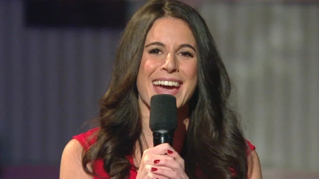 Brooke Singman Performs National Anthem At Fbn Wsj Debate