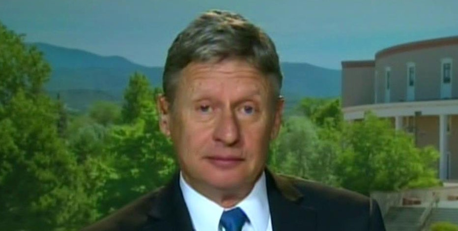 Former Governor Gary Johnson,(R-N.M.), announces his run for presidency on the Libertarian ticket.