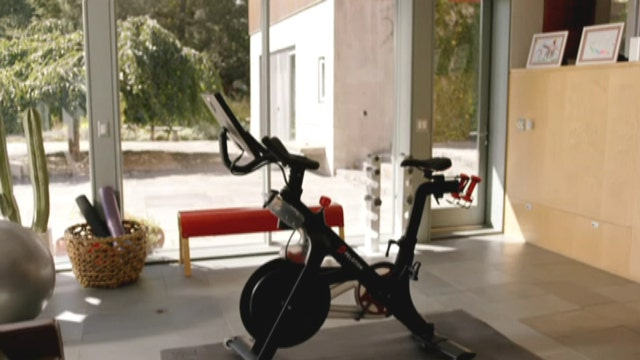Exercise at home with Peloton's high-tech bike