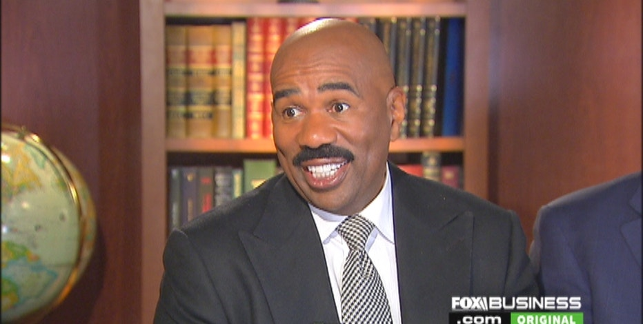 Comedian Steve Harvey talks to FOXBusiness.com's Jade Scipioni about politics and Donald Trump.