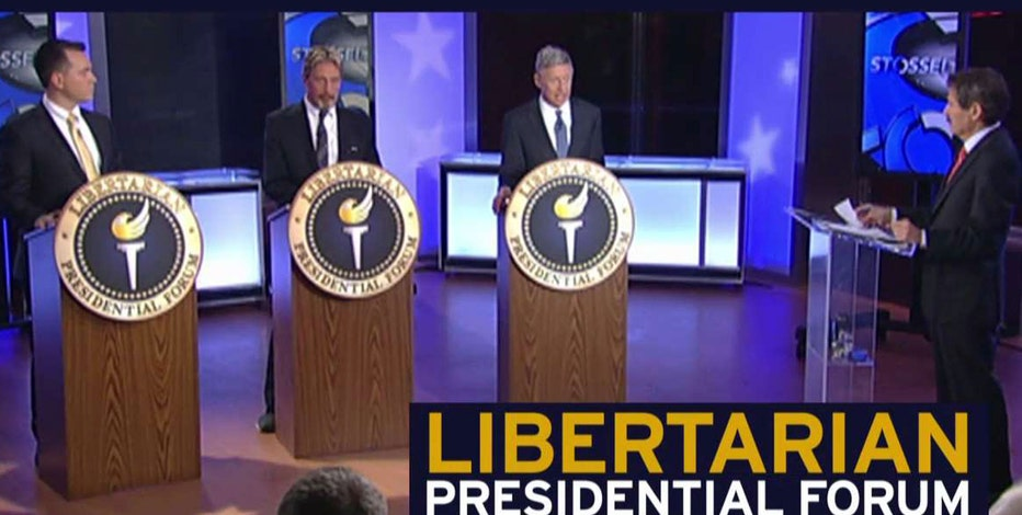 Libertarian presidential candidates Gary Johnson, John McAfee and Austin Petersen discuss the top issues concerning voters in a Libertarian Presidential Forum moderated by FOX Business Network's John Stossel.