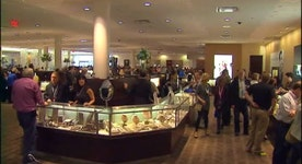 Inside Borsheims at the annual Berkshire Hathaway shareholders meeting