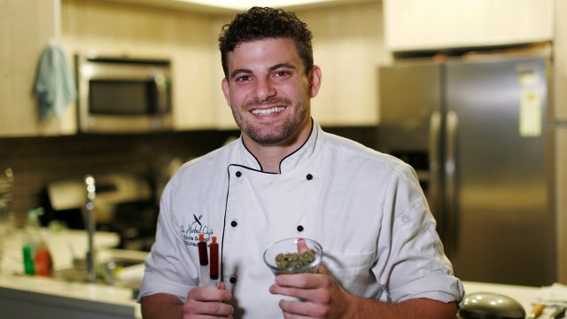 Chris Sayegh, the founder of The Herbal Chef talks to FOXBusiness.com's Jade Scipioni about his cannabis-infused gourmet dishes.