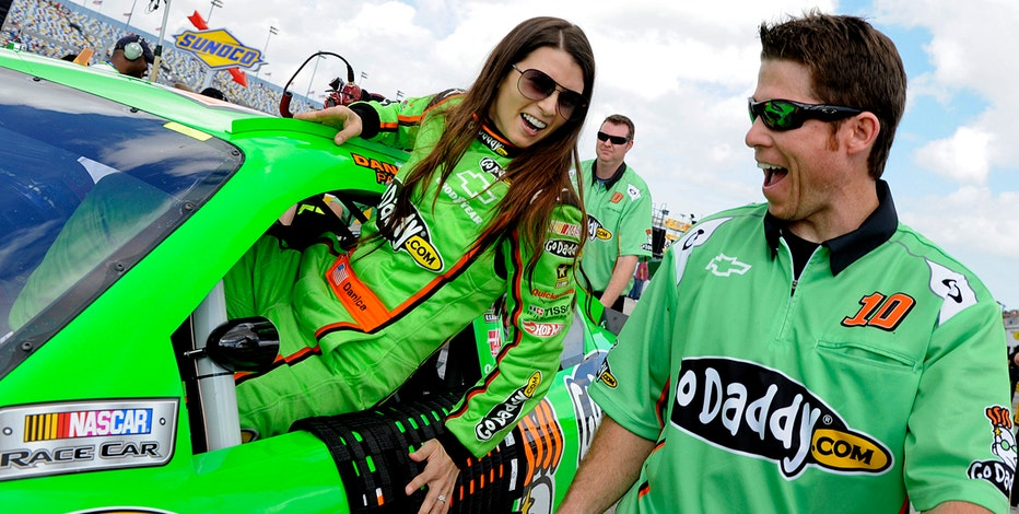 NASCAR driver Danica Patrick says she tries to stay away from these two things when talking publicly.