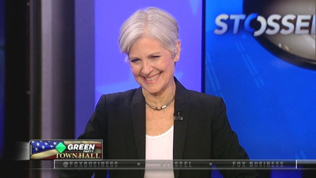Green Party presidential nominee Jill Stein answers questions during the Stossel Green Party Town Hall.