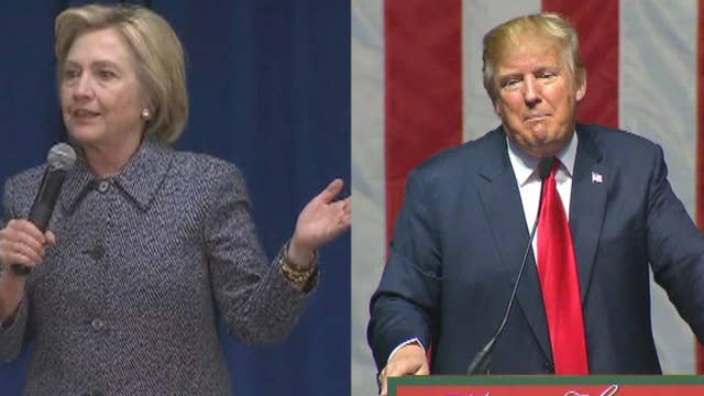 The war of words between Clinton and Trump