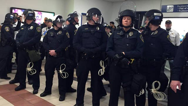 What is the goal of the Mall of America protests?