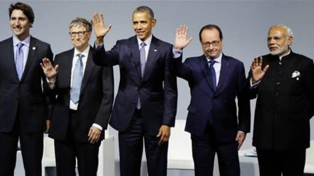 Global leaders set goal to limit warming to two degrees Celsius
