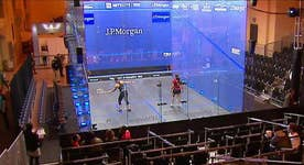 Top squash players duel it out in NYC's Grand Central Terminal