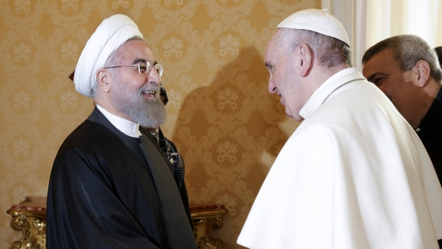 Iranian president meets with the pope
