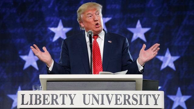 Trump flubs Bible verse during speech at Liberty University