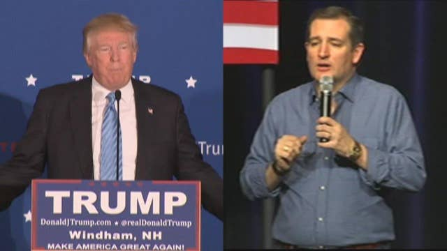 The battle between Donald Trump, Ted Cruz