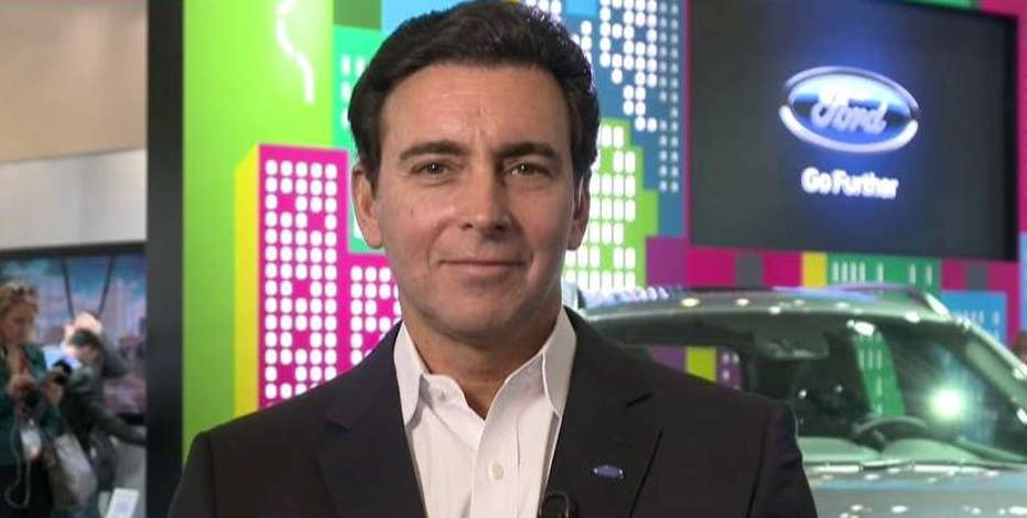 Ford Motors CEO Mark Fields on the latest vehicle technology, Apple's fight with the FBI, the impact on the auto sector from companies such as Uber and the areas for growth for the automaker.