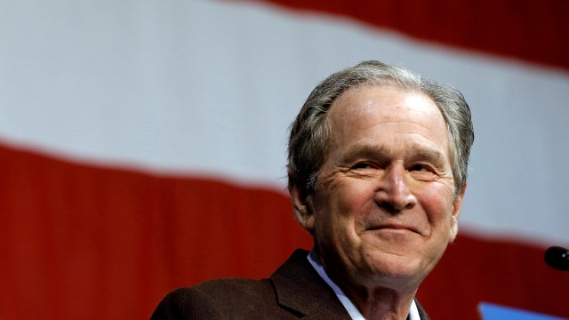 George W. Bush takes a jab at Trump in speech at Jeb rally