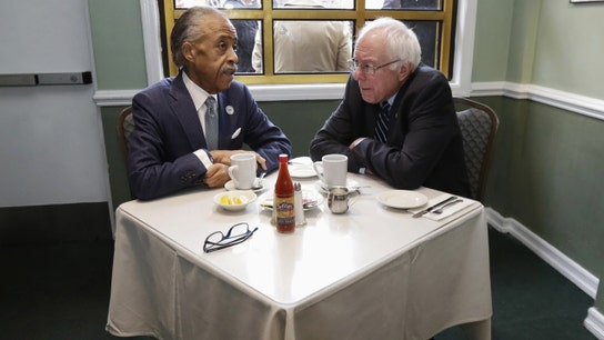 Bernie Sanders meets with Al Sharpton