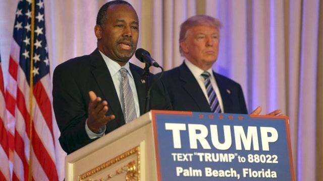 Super PACs pushing Carson into Trump's VP slot