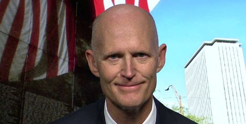 Florida Governor Rick Scott says the Republican race will be determined by which candidate is best for jobs and that he'll continue to hold off on endorsing a candidate.