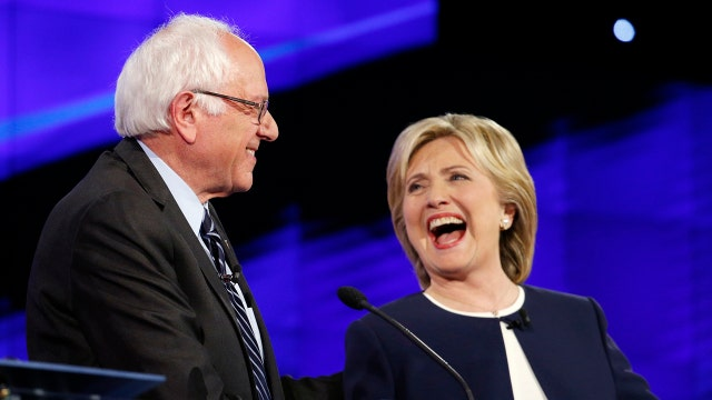 Sanders candidacy continuing to push Clinton to the left?