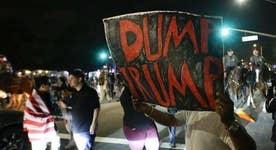 Trump spokesperson on violent protests