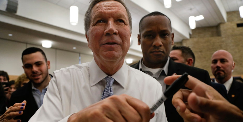 Ohio Governor and presidential candidate John Kasich (R) discusses his delegate strategy and his pick to win the Masters.