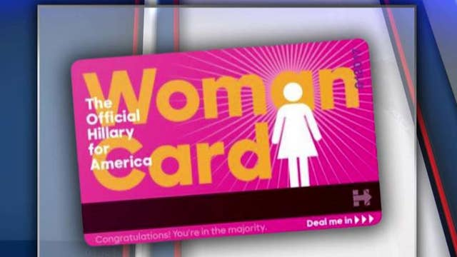 The debate over Clinton's use of 'the woman card'