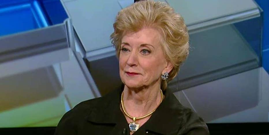 Former WWE CEO Linda McMahon on the 2016 presidential race, helping women move up the corporate ladder and the death of former wrestler Joan 'Chyna' Laurer.
