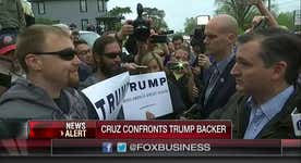 Ted Cruz confronts Trump supporter