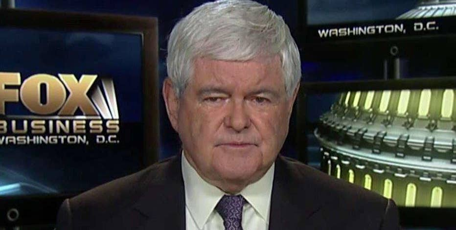 Former House Speaker Newt Gingrich discusses his outlook for the California primary and Trump's response to Trump University comments.