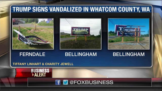 Trump sign vandalism becoming issue in WA
