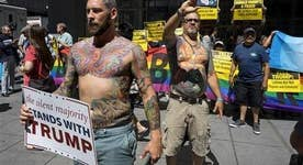 Pro-Trump protesters embark on RNC