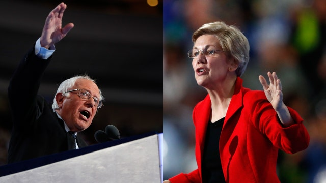 Sanders, Warren push for more government at DNC