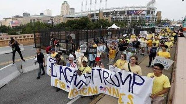 Protests dwindle on RNC's final day