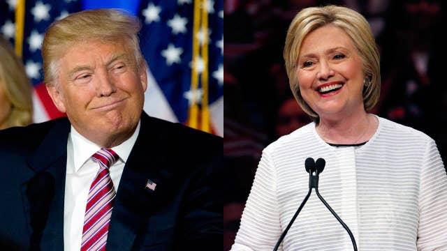 Clinton, Trump battle for Sanders supporters