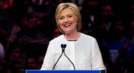Hillary Clinton becomes first woman nominated for President