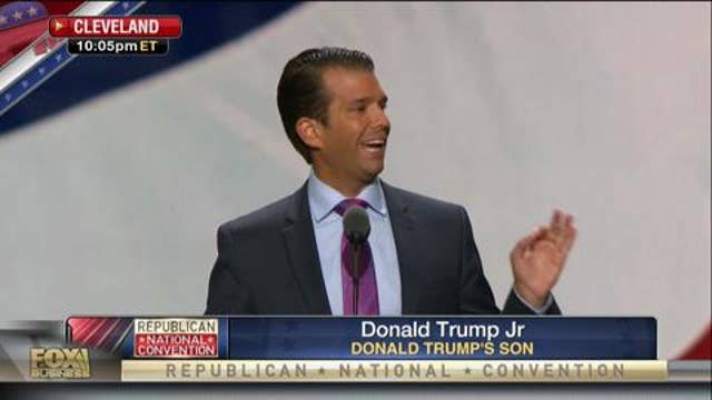 Trump Jr.: The election will determine the future of our world