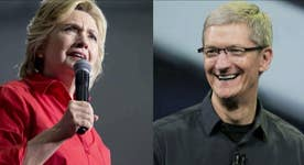 Apple's Tim Cook holds fundraiser for Clinton
