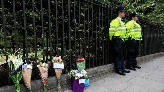 American stabbed in London