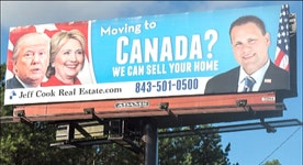 Real estate agent aims to capitalize on angry, Canada-bound voters