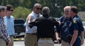 Obama visits Louisiana as relief efforts continue