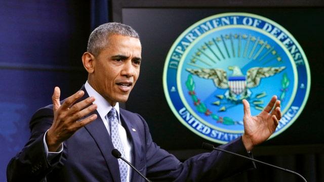 Obama touts progress against ISIS