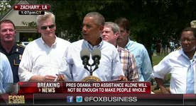 Obama calls on Americans to help Louisiana victims