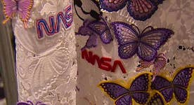 NASA themes in designer's line at NYC Fashion Week