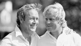 Jack Nicklaus pays tribute to Arnold Palmer