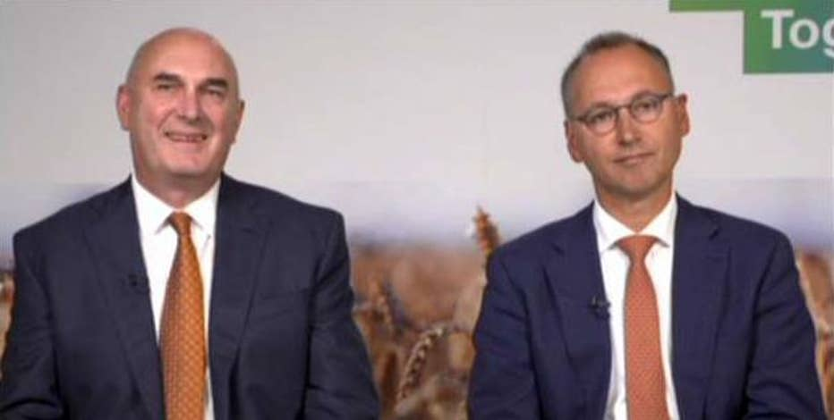 Werner Baumann, Bayer CEO, and Hugh Grant, Monsanto CEO, discuss why they decided to merge their companies and respond to doubts it will be green lighted by regulators.