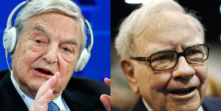 Republican presidential nominee Donald Trump slams billionaire investors George Soros and Warren Buffett on their business records.