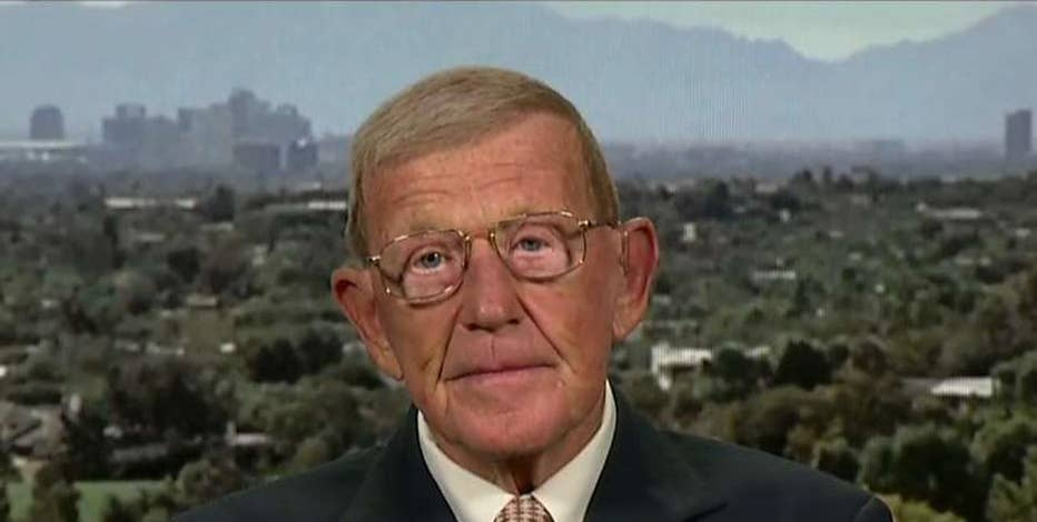 Former Notre Dame Coach Lou Holtz on the second presidential debate, Donald Trump's success in business and the National Anthem protests by NFL players.
