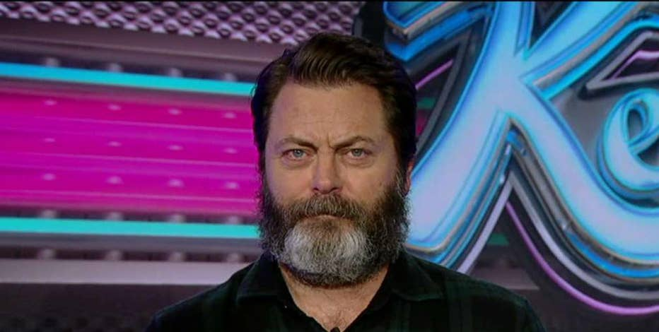 Actor Nick Offerman on who his character from 'Parks and Recreation' Ron Swanson would vote for in the presidential election.