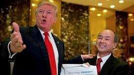 Trump announces $50B SoftBank investment in U.S. jobs
