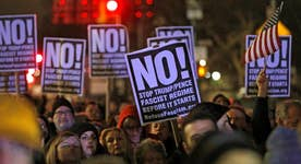 Will Trump's actions as president end the protests?