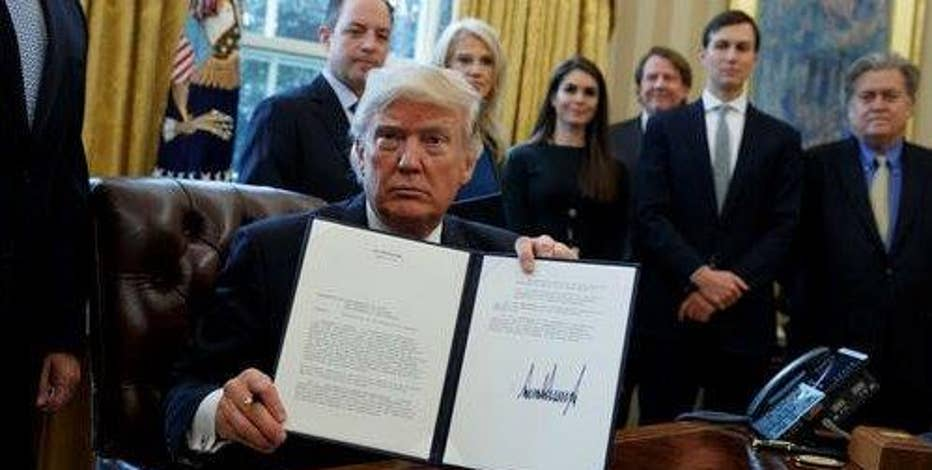 President Donald Trump signs executive orders that will renegotiate the terms of the Keystone XL and Dakota Access pipelines.